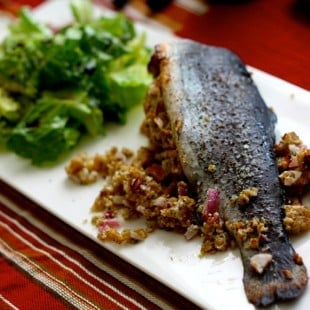 Lemon Stuffed Trout