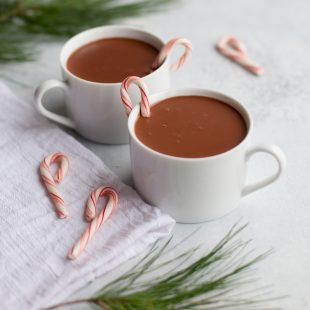 Healthier Peppermint Hot Chocolate