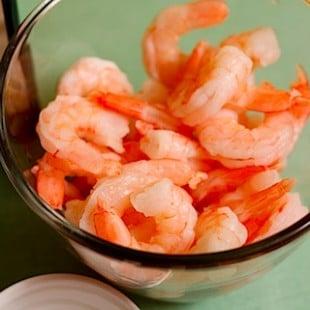 the return of veggies (spicy shrimp linguine)