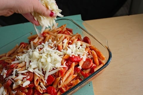 provolone penne bake