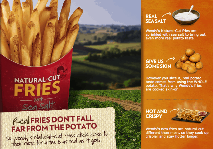 tuesday thoughts : wendy's natural cut fries - Wholefully