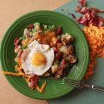 bacon and egg hash
