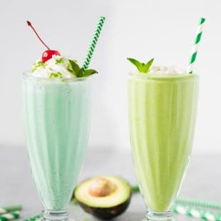 Shamrock Shake Two Ways: Healthy or Treat Yo Self!