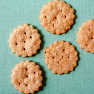 rollin' in the deep (whole wheat cheddar crackers)