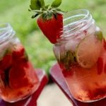 strawberry-lime mojitos