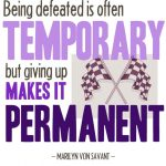 monday motivation: giving up