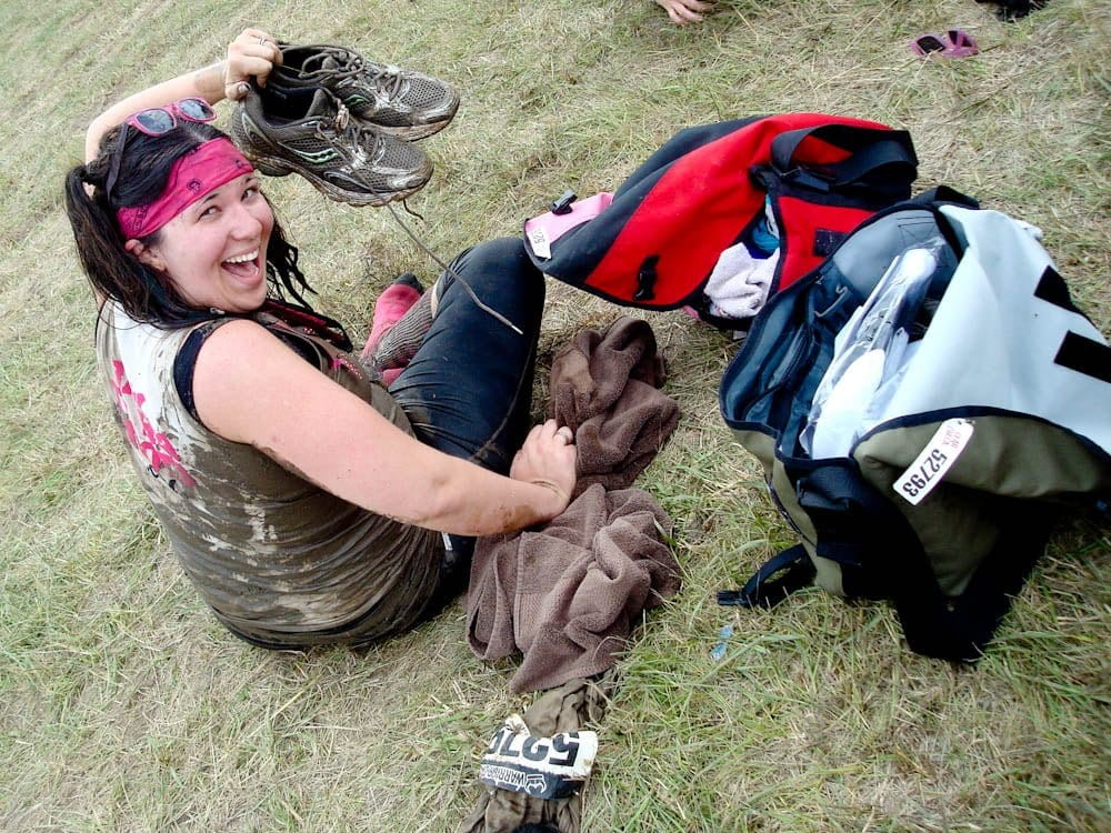 what to wear during a cold mud run