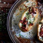 herbed egg potato boats