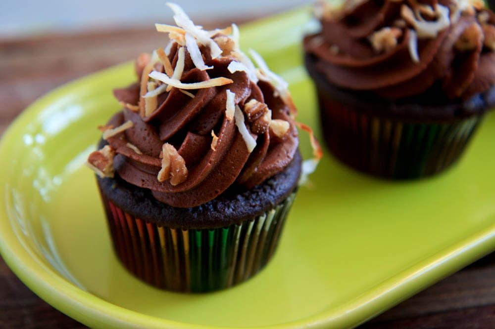 german chocolate filled cupcakes - Back to Her Roots