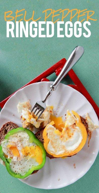 Bell pepper Ringed Eggs