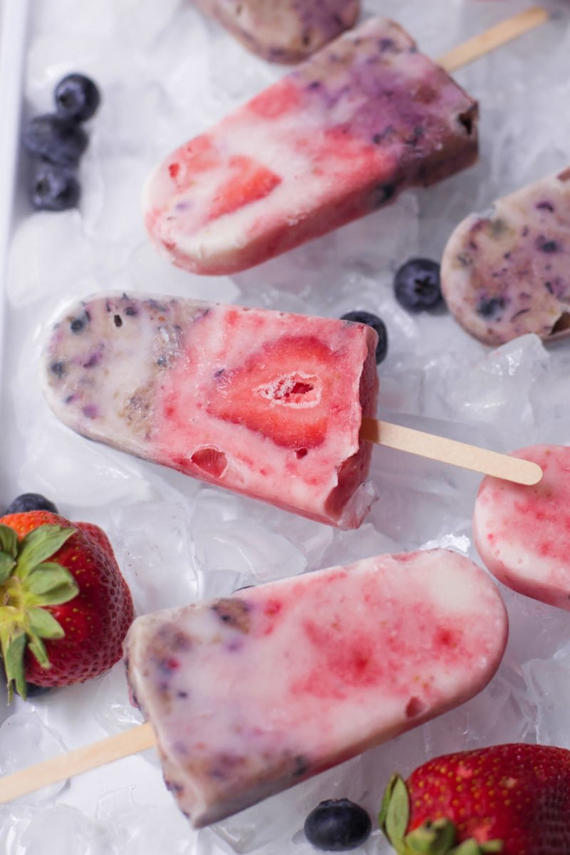 Swirled Berry Yogurt Pops