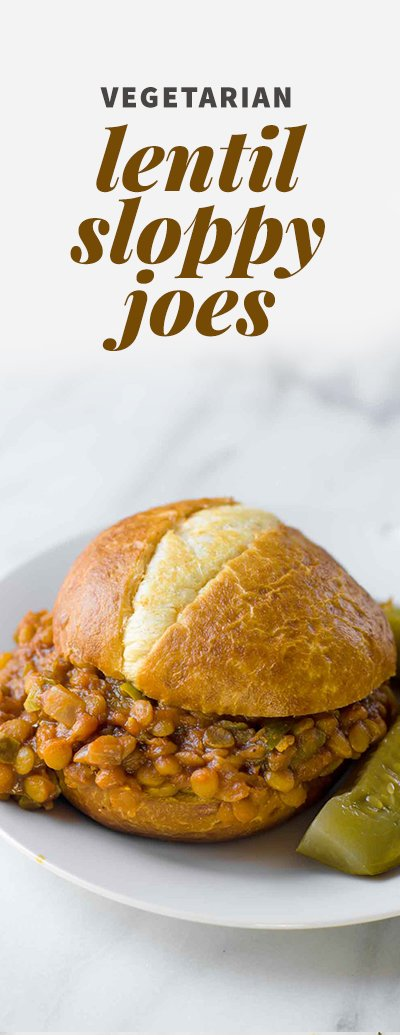 Vegetarian Lentil Sloppy Joes