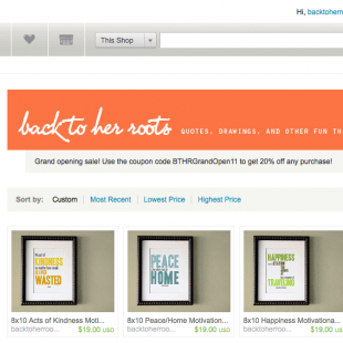 the Wholefully etsy shop + giveaway