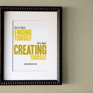 monday motivation: create yourself