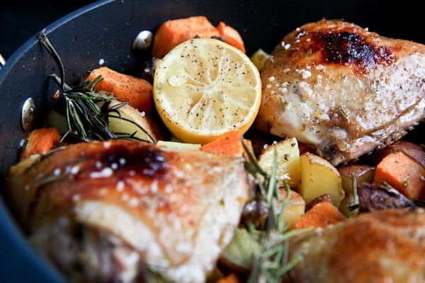 rosemary citrus chicken with fall vegetables - Wholefully
