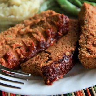 two bean meatless meatloaf (vegan, gluten-free)