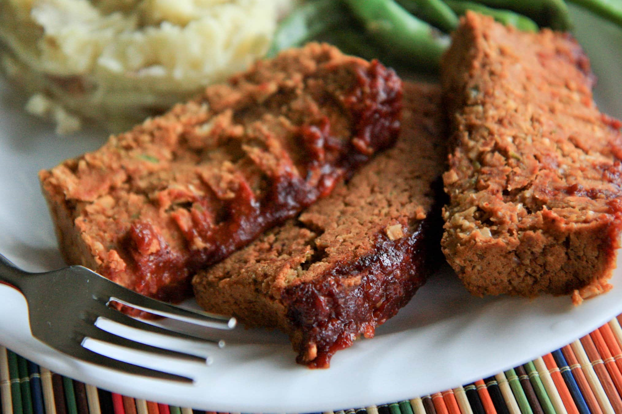 two bean meatless meatloaf (vegan, gluten-free) - Back to Her Roots