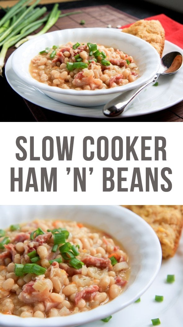 slow cooker ham and beans - Wholefully