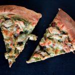 chicken, grape, and pesto pizza