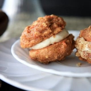 whole grain carrot cake whoopie pies