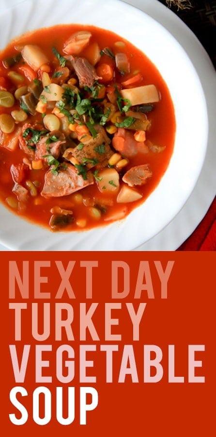 Next Day Turkey Vegetable Soup