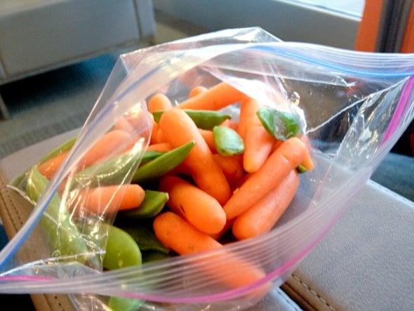 carrots peas
