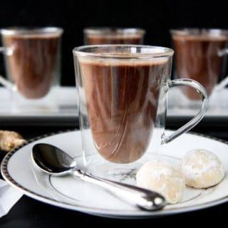 gingered hot chocolate