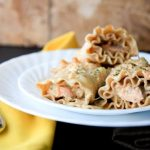 salmon parmesan lasagna roll-ups