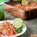 cilantro-lime sweet potato slaw