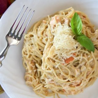 smoked salmon carbonara