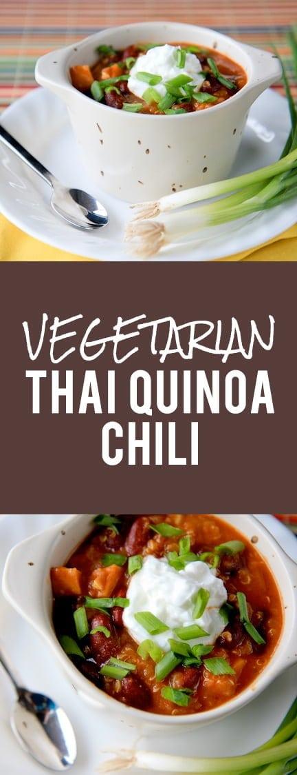 Vegetarian Thai Quinoa Chili