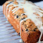 wild blueberry banana super bread with lemon glaze