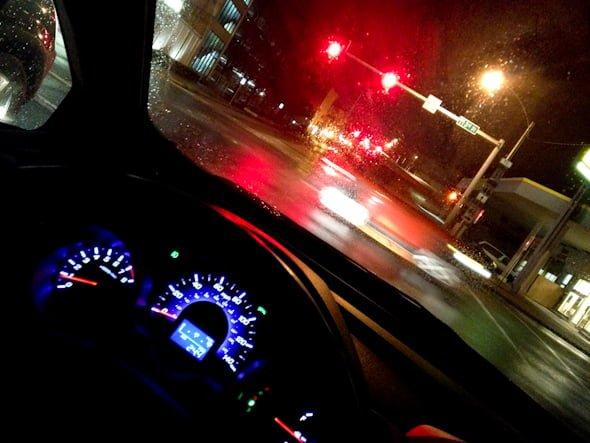 car drive road