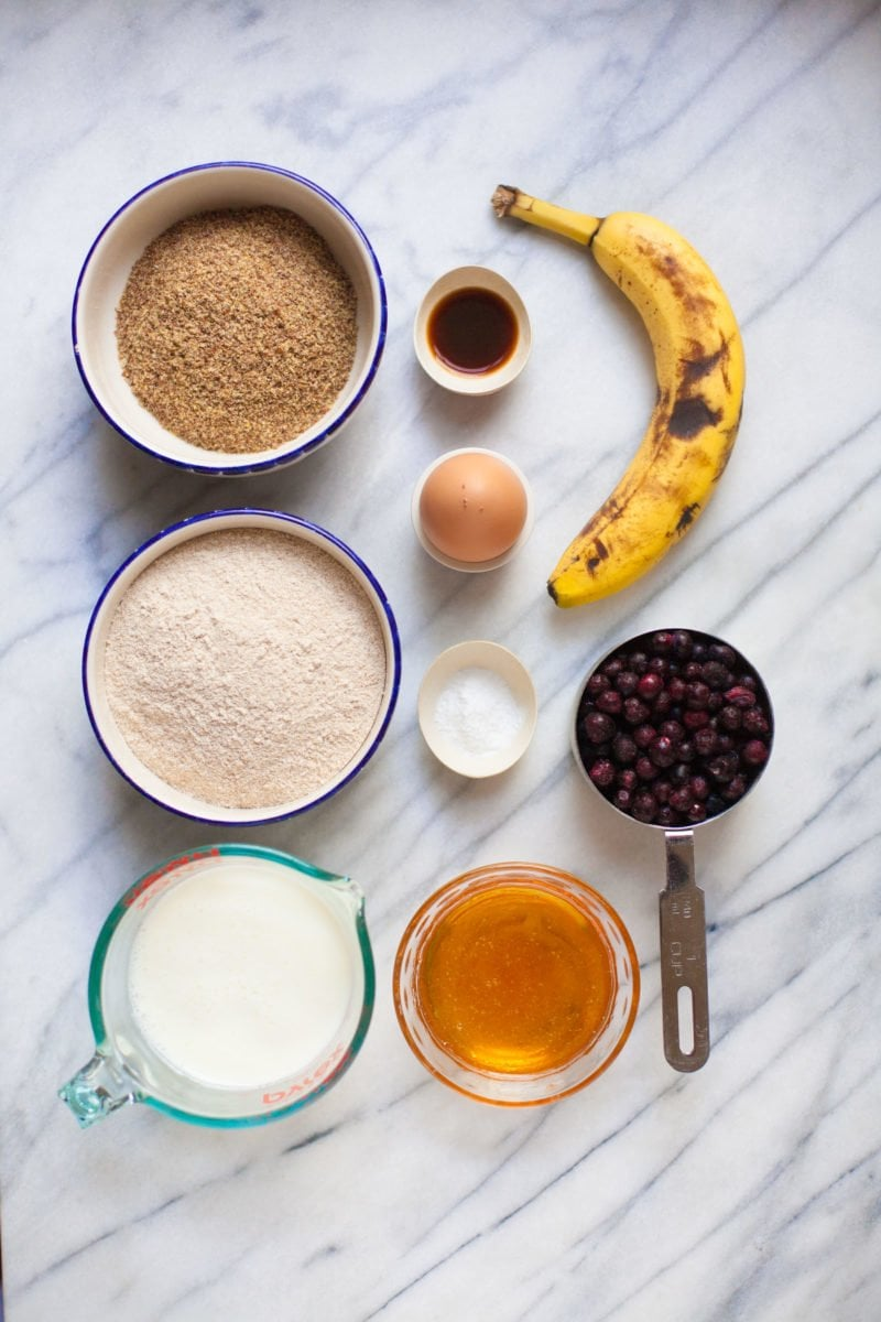 Wild Blueberry Banana Bread with Lemon Glaze - Ingredients