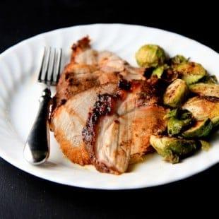 maple-mustard glazed fresh pork roast