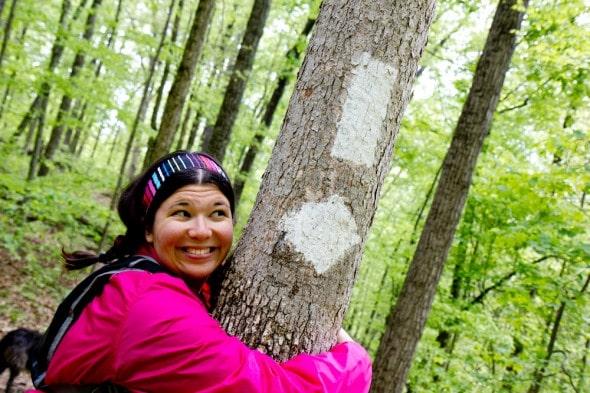 me hike tree blazes