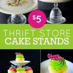 pinterest challenge: thrift store cake stands