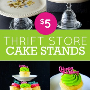 pinterest challenge: thrift store cake stands