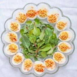 Hummus Deviled Eggs