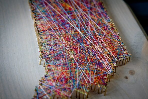 pinterest challenge: state nail and string art | Wholefully