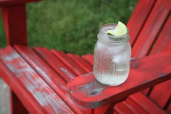 gin and tonic drink chair