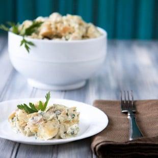 yogurt-hummus potato salad