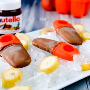 nutella banana fudgesicles