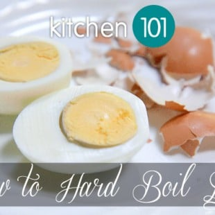 kitchen 101: how to hard boil eggs