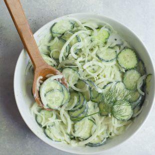 Simple Cucumber Onion Salad