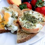 goat cheese, turkey and egg cups