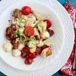 roasted cauliflower caprese salad