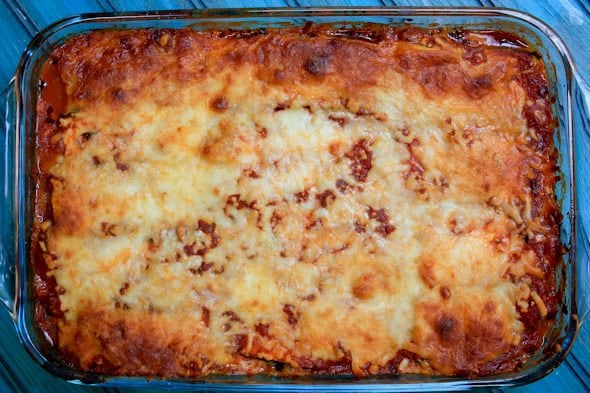 noodleless zucchini mushroom lasagna - Back to Her Roots