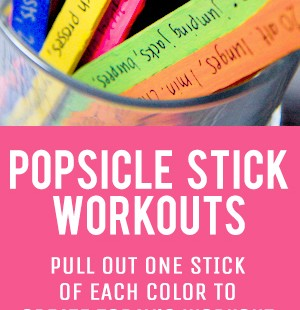 popsicle stick workout jar