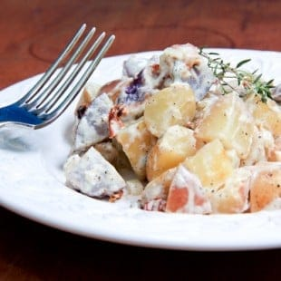potato salad with sundried tomatoes and bacon